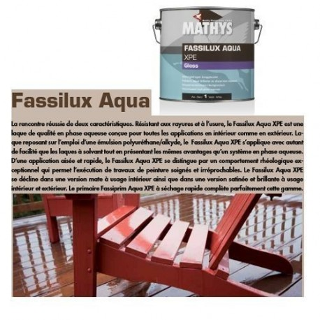 FASSILUX AQUA XPE GLOSS (1L ou 2.5L) MATHYS